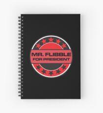 Mr Flibble For President Spiral Notebook