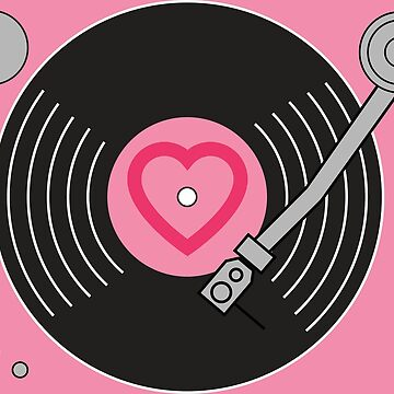 Groovy Pink Record Player by ClassicFlower