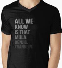 All We Know Is That Mula, Benjis, Franklin Men's V-Neck T-Shirt