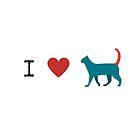 I Heart Cats by Kamira Gayle