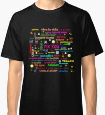 TITLE SONG COLDPLAY Classic T-Shirt