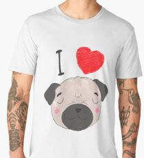 I love pugs - dogs Men's Premium T-Shirt