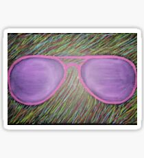Oil Pastel Glasses Sticker