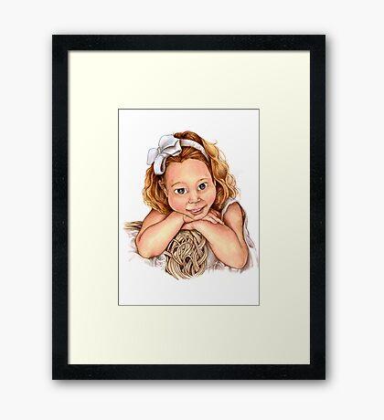 Blond Haired Girl Framed Print
