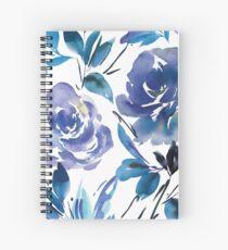 Royal Blue Garden Spiral Notebook