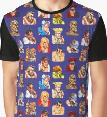 STREET FIGHTER FACES Graphic T-Shirt