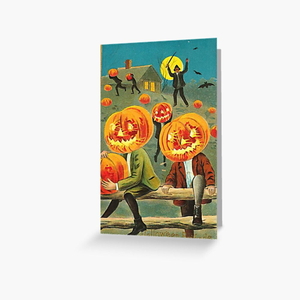 Vintage Halloween Greeting Cards Classic Posters Greeting Card