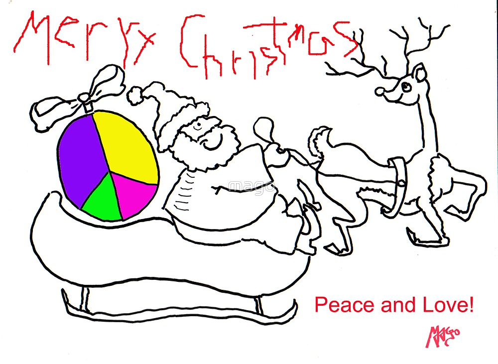 Merry Chistmas & Peace and Love - C.Card by mago