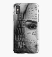 Demi Lovato - Tell me you love me iPhone Case/Skin