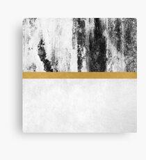 Golden Line / White Canvas Print