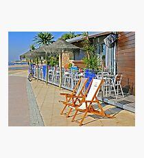 beach bar. windsurf. cafe. surf school Photographic Print