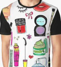 Cosmetic Doodles Graphic T-Shirt