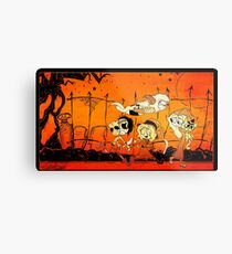 Monsters On Candy Hunt! Metal Print