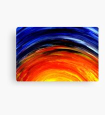 Colorful Abstract Painting Original Art Titled: Morning Glory Canvas Print