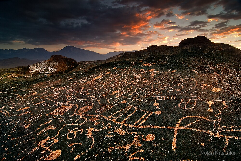Paiute Petroglyphs and the Eastern Sierras by Nolan Nitschke