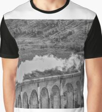 The Jacobite Steam Train, Glenfinnan Viaduct, Scotland. Graphic T-Shirt