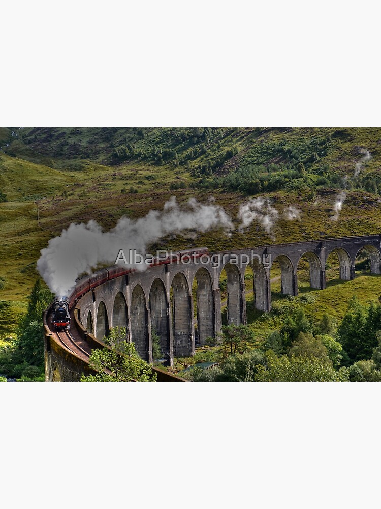 The Jacobite Steam Train, Glenfinnan Viaduct, Scotland. by AlbaPhotography