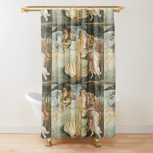 VENUS. The Birth of Venus, 1486, Sandro Botticelli. Shower Curtain