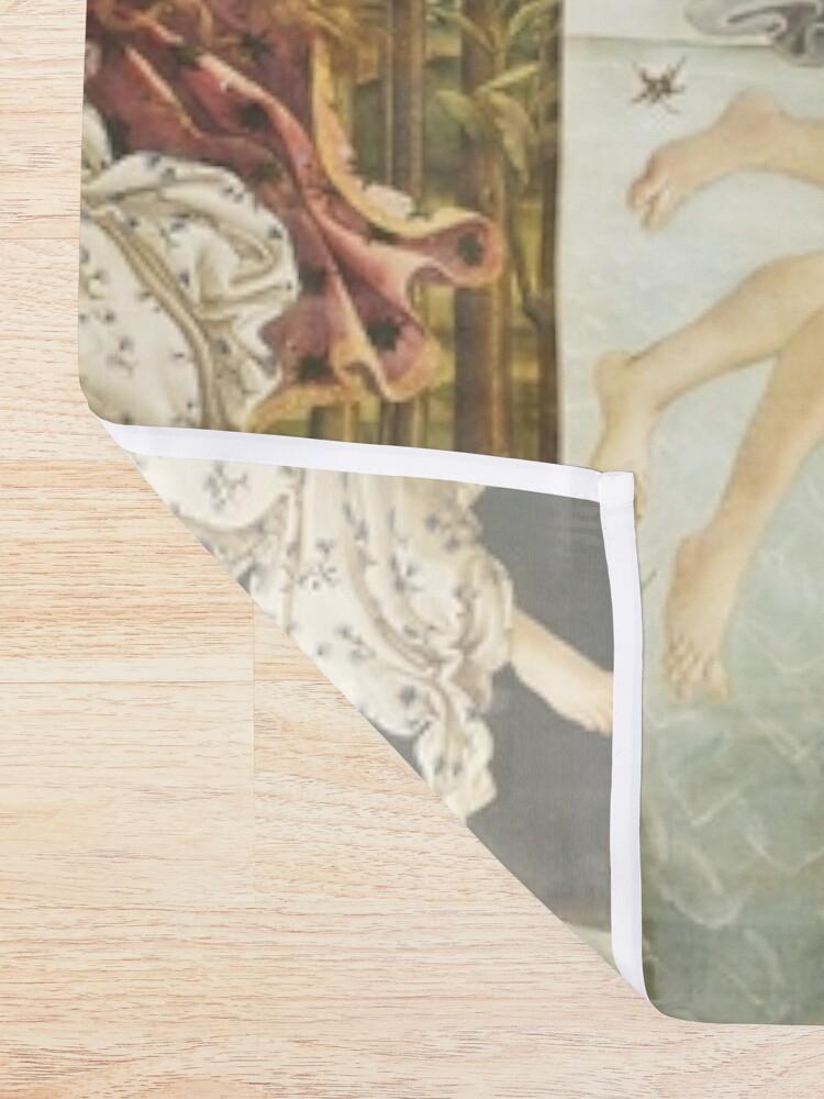 Alternate view of VENUS. The Birth of Venus, 1486, Sandro Botticelli. Shower Curtain