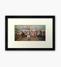 Scotland Forever! 1881, Battle of Waterloo, Lady Butler, Charge of the Royal Scots Greys Framed Print