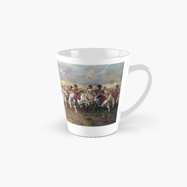 Scotland Forever! 1881, Battle of Waterloo, Lady Butler, Charge of the Royal Scots Greys. Tall Mug