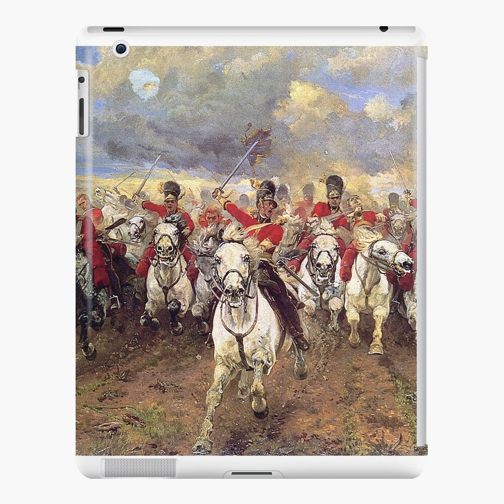 Scotland Forever! 1881, Battle of Waterloo, Lady Butler, Charge of the Royal Scots Greys. iPad Case & Skin