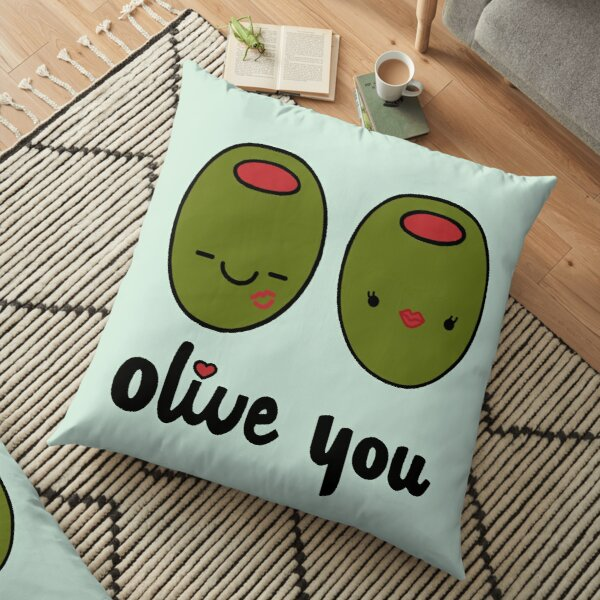 Olive You  Floor Pillow