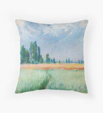 Claude Monet - The Wheat Field Throw Pillow