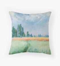 Claude Monet - The Wheat Field Throw Pillow