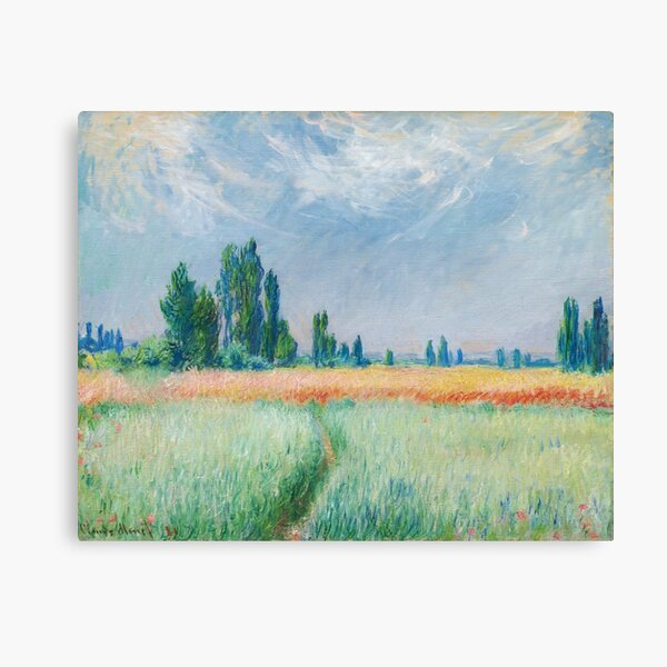 Claude Monet - The Wheat Field Canvas Print
