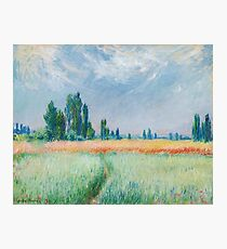 Claude Monet - The Wheat Field Photographic Print