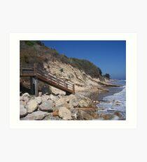 Steps to the Beach Art Print