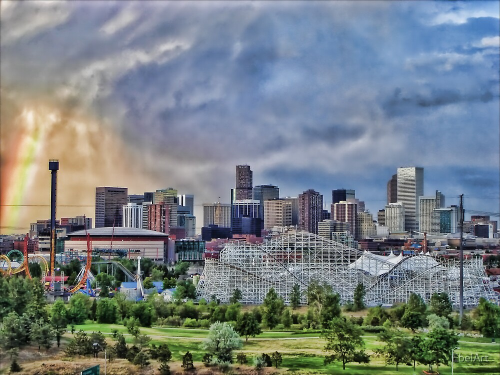 Rainbow Over Denver by EbelArt