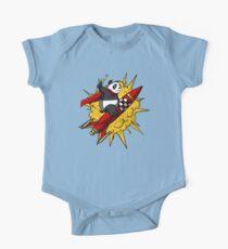 Panda Bear Riding Rocket Cartoon Space Astronaut Kids Clothes