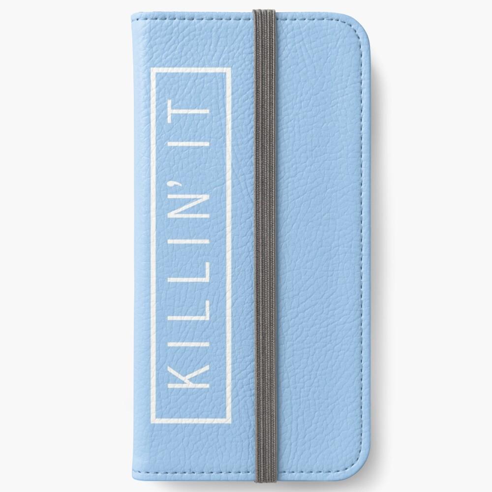 tötet es - Pastellblau iPhone Flip-Case