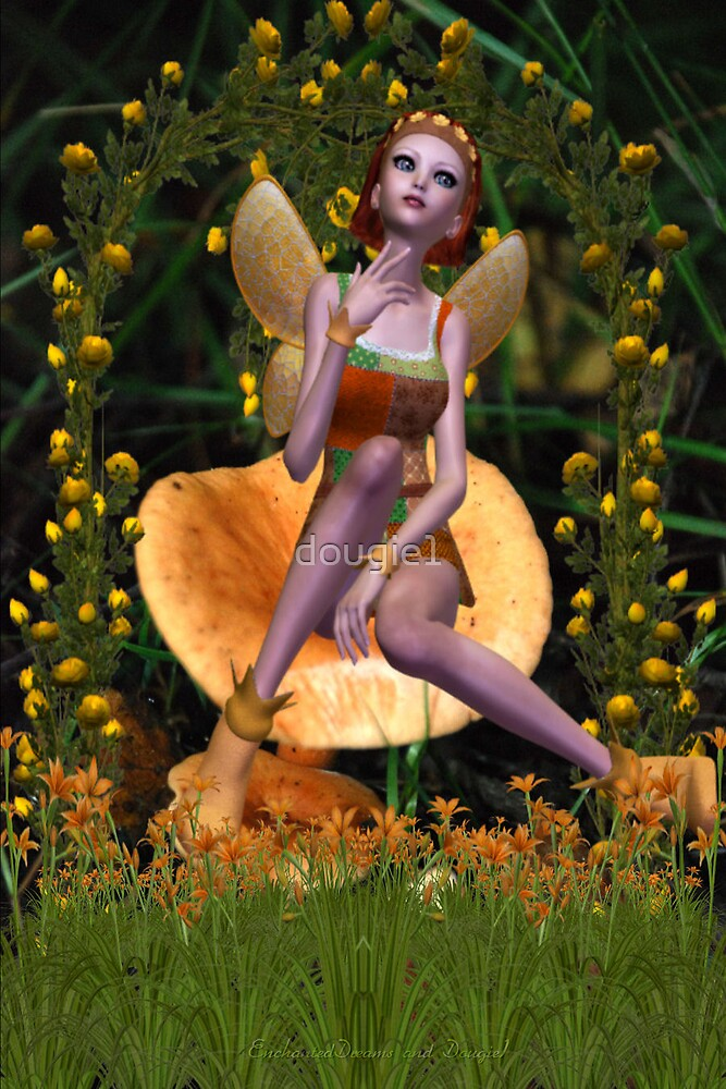 Mushroom Fairy -- Collaboration with Enchanted Dreams by dougie1