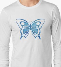 Blue Watercolor Abstract Butterfly T-Shirt