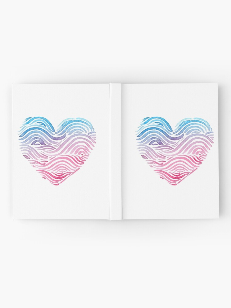 Alternate view of Heart of the sea - Watercolor Hardcover Journal