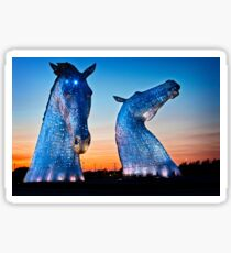 EVENING FALLS ON THE KELPIES Sticker