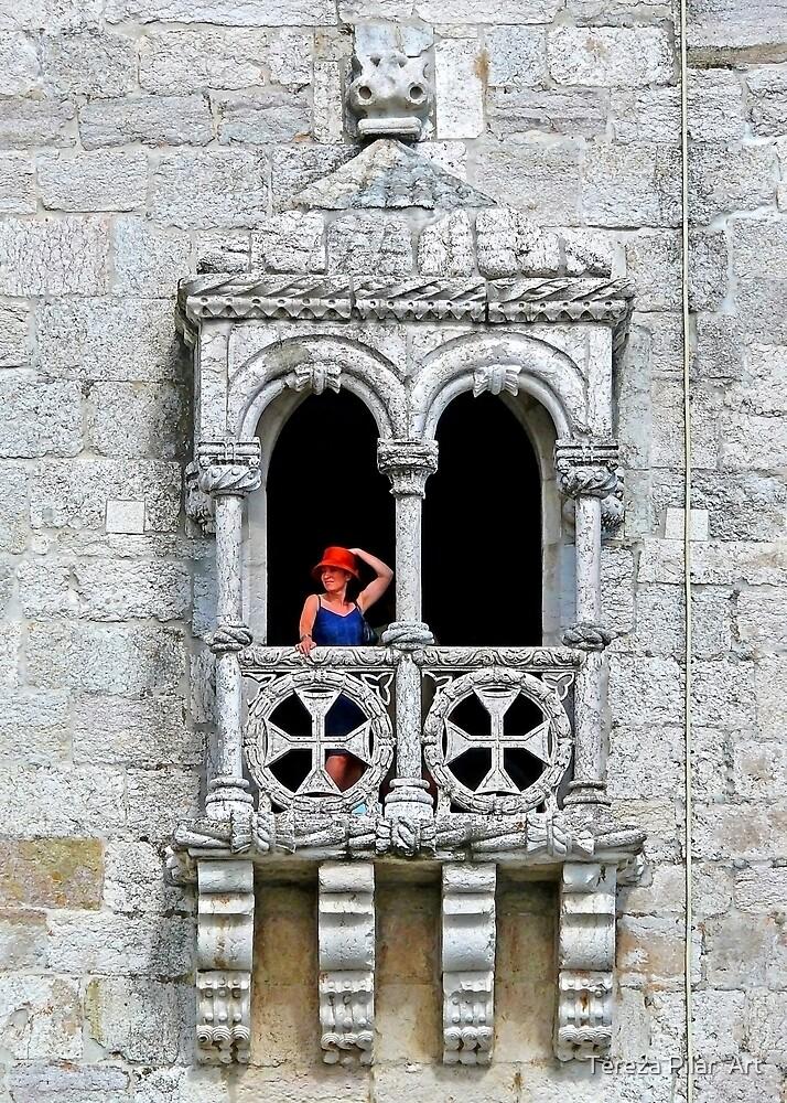 Belém Lady with a red hat. Torre de Belém. by terezadelpilar ~ art & architecture
