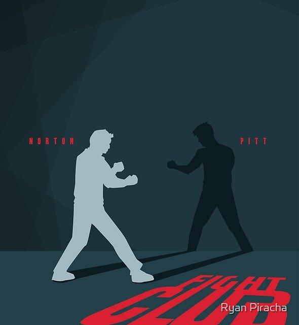 Fight Club Silhouette - Minimal Poster Art  by Ryan Piracha