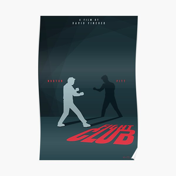 Fight Club Silhouette - Minimal Poster Art Poster