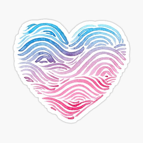 Heart of the sea - Watercolor Sticker