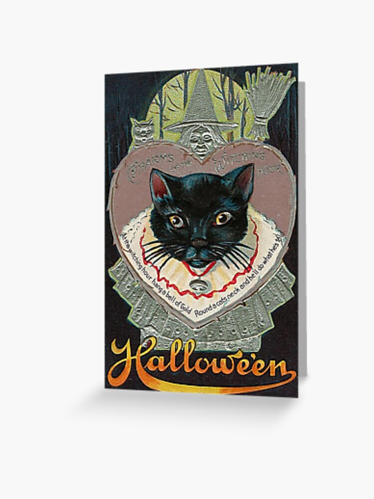 Vintage Halloween Greeting Cards Classic Posters Greeting Card By Jnniepce Redbubble