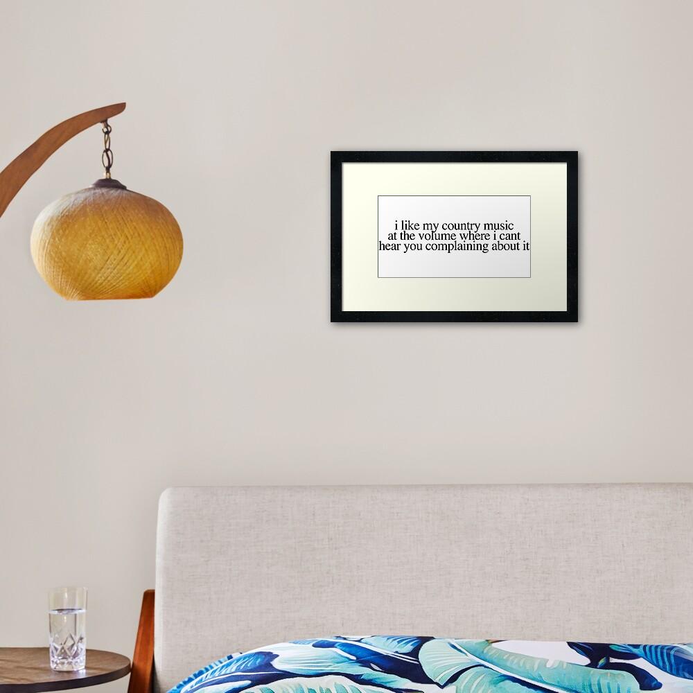 Loud and Proud Framed Art Print