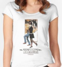 Sunday in the Park with George Musical  Women's Fitted Scoop T-Shirt