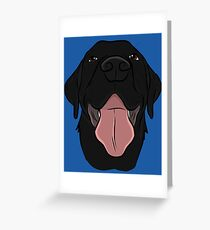 Happy Black Lab Greeting Card