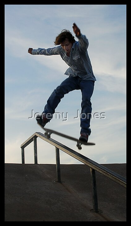 Frontside boardslide by Jeremy  Jones