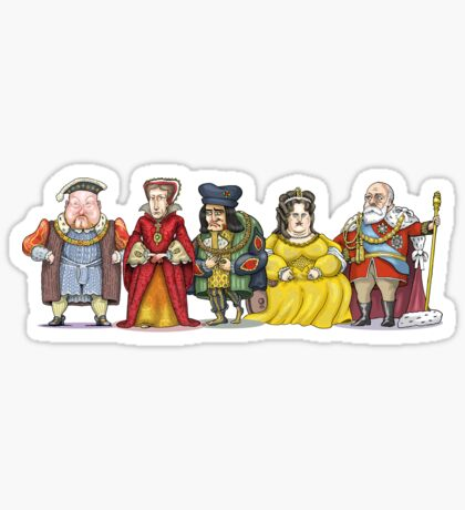 British Monarchs Sticker