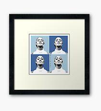 Mahogany Warhol Blue Framed Print